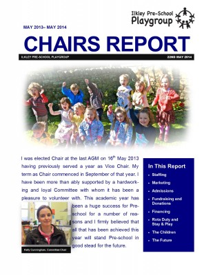 Chairs Report front page
